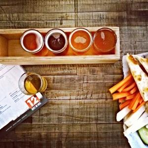 12 Degree Brewing beer tasters and snacks